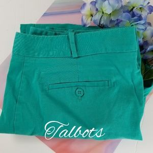 TALBOTS SIGNATURE ANKLE PANTS IN TEAL, SIZE 16